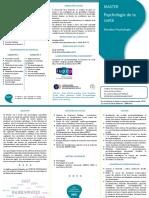 Plaquette Master Psychologie de La Santé (1)