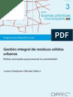 Buenas Practicas, Gestion Integral de Residuos Solidos Urbanos, Schejtman y Cellucci, 2014