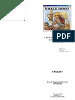 Sage 2001 software