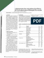As decisões de planeamento dos educadores de infância e as Orientações Curriculares para a Educação Pré-Escolar