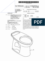 A patent of Slip casting of sanitaryware
