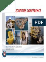 20150902 Pareto Securities Conference