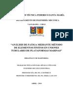 ANÁLISIS DE FATIGA MEDIANTE MÉTODO DE ELEMENTOS FINITOS EN UNIONES TUBULARES DE PLATAFORMAS MARINAS