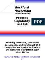 Process Capability and Cpk