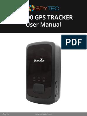 Gl-300 Gps Tracker User Manual Rev2 | Button (Computing) | Login