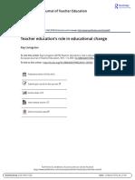 Teacher Education s Role in Educational Change