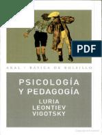 Vigotsky Leontiev Luria  1 Psicologia y Pedagogia