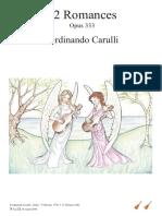 F. Carulli 333  12 romances