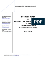 SouthWest Ohio Fire Safety Council Position Paper on Residential Smoke Detectors - May 2010