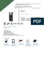Gravador e Reprodutor de Voz - Sony Digital Voice Recorder 2GB - ICD-PX312__C - Box - Gravador de Áudio - Eletrônico __ WAZ - Fanáticos Por Tecnologia
