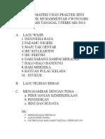 Daftar Materi Ujian Praktek Seni Budaya Smk Muhammdiyah 4 Wonogiri Hari Kamis Tanggal 5 Februari 2014