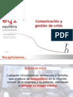 Comunicacion y Gestion de crisis