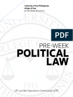Political Law 2015 UP Pre-week