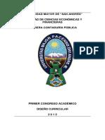 PRIMER CONGRESO ACADÉMICO DISEÑO CURRICULAR 2 0 1 2