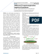 Review on Different Evapotranspiration Empirical Equations