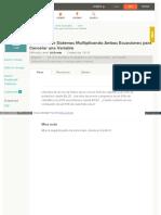 Resolver Sistemas Multiplicando Ambas Ecuaciones Para Cancelar Una Variable