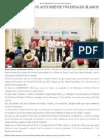 16/03/16 Aplicará SEDESSON acciones de vivienda en Álamos -El Observador
