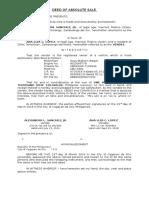 Deed of Sale (Motor Vehicle) Sample