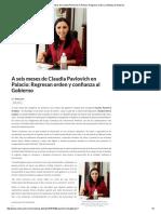 13/03/16 A seis meses de Claudia Pavlovich en Palacio