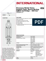 HYDAC Pressure Relief Valve Poppet Type, Direct-Acting SAE-8 Cartridge – 420 bar