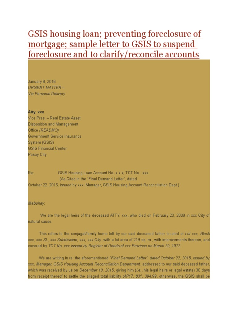 Gsis housing loan foreclosure private law spiritdancerdesigns Image collections