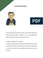 Principios de La Educación Infantil