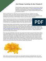 Manfaat kesehatan dari Omega-3 penting efa dan Vitamin D