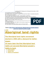 Abroginal Land Rights