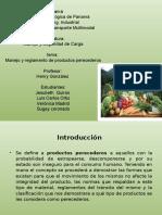 Manejo y Reglamento de Productos Perecederos