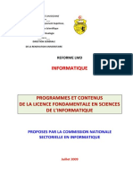 Licence Fondamentale en Sciences de l'Informatique