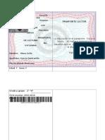 Formato de Pasaporte de Lectura