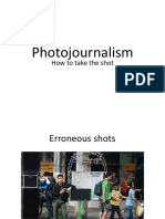 Application of Research towards Photojournalism - A Workshop Handout