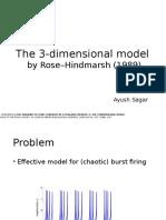 The 3-Dimensional Model Hindmarsh Rose