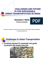 Future Prospect for Sustainable Urban Transportation in India