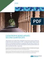 Catastrophe Bond Update 2nd Q 2015