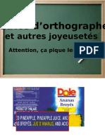 Fautes d'Orthographe1