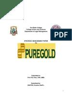 Strategic Management Paper on Puregold