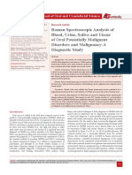 Raman Spectroscopic Analysis of Blood, Urine, Saliva and Tissue of Oral Potentially Malignant Disorders and Malignancy-A Diagnostic Study
