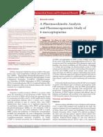 A Pharmacokinetic Analysis and Pharmacogenomic Study of 6-mercaptopurine