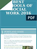 Best Schools of Social Work 2016