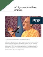 The Story of Chyavana Muni From Bhagavata Purana