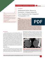 Abdominal-Pelvic Masses in Geriatrics