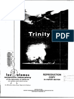 Trinity by Bainbridge.test Report.1945; First Printed by LASL in Classified Form as LA-1012; Reprinted 1960s LA-6300