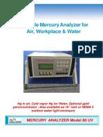 Model 80 Mercury Analyzers