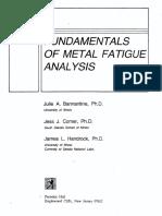 Fundamentals of Metal Fatigue - Bannatine, J.; Corner, J.; Et Al
