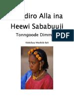 Hoddiro Alla Ina Heewi Sababuuji Tonngoode Dimmere