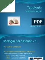 TYPOLOGIA SLOWNIKOW