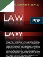 Lawsoflibraryscience