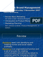 Product & Brand Management