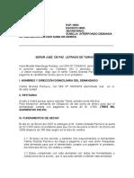 Demanda de Obligación de Dar Suma de Dinero 1